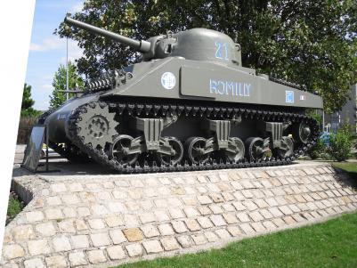Le char « Romilly » symbole d'un passé ancré.