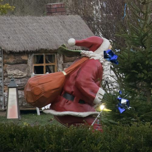 Le Père Noël au marché de Noël